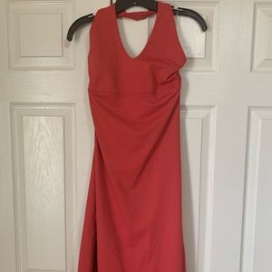 Patagonia Morning Glory Coral halter dress large